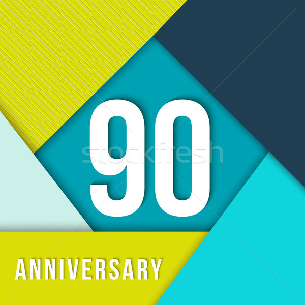 90 year anniversary material design template Stock photo © cienpies