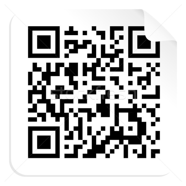 Qr code label technologie vector bestand papier Stockfoto © cienpies