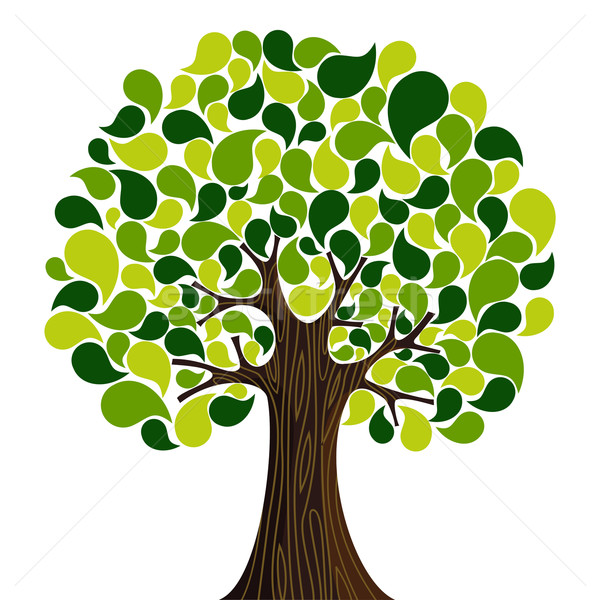 Stockfoto: Abstract · voorjaar · tijd · boom · bloemen · vector