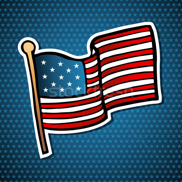 USA cartoon bandiera icona stile Foto d'archivio © cienpies
