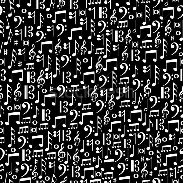 Music notes seamless pattern illustration Stock photo © cienpies