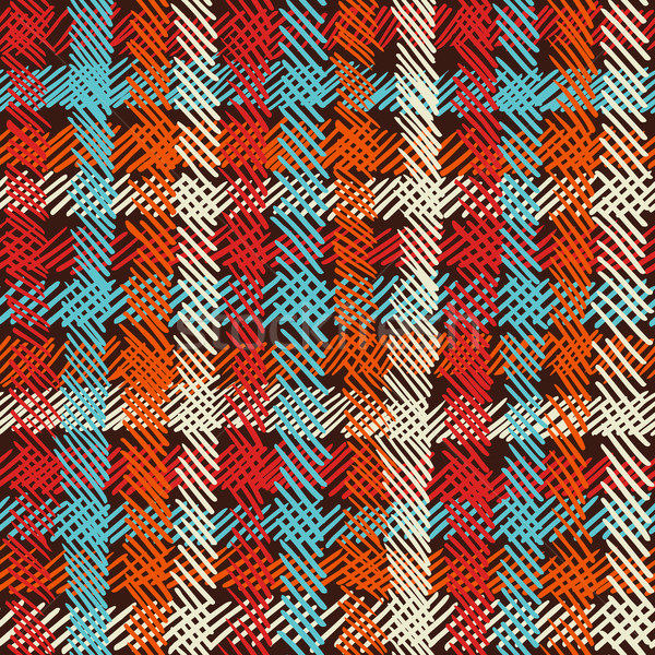 Boho seamless pattern vintage checkered background  Stock photo © cienpies