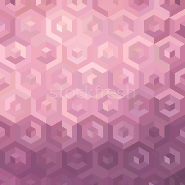 Pink isometric background illustration Stock photo © cienpies