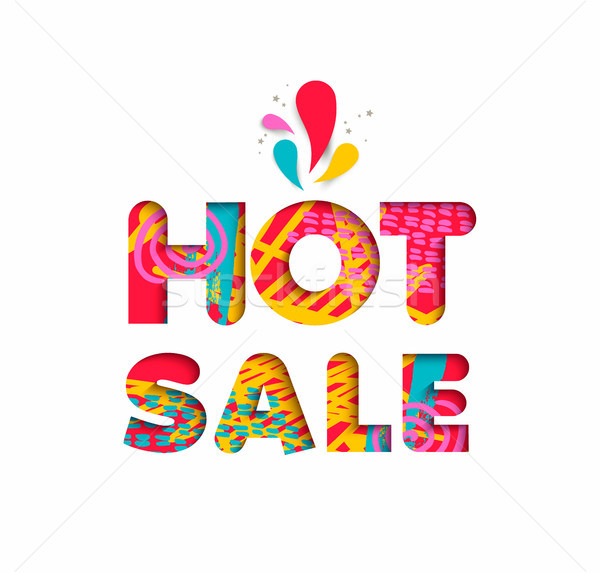 Hot sale color quote sign for big special discount Stock photo © cienpies