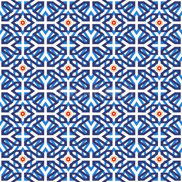 Arab muslim mosaic tile vintage seamless pattern Stock photo © cienpies