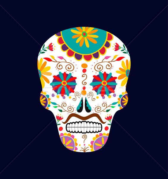 日 死んだ 砂糖 頭蓋骨 装飾 芸術 ストックフォト © cienpies