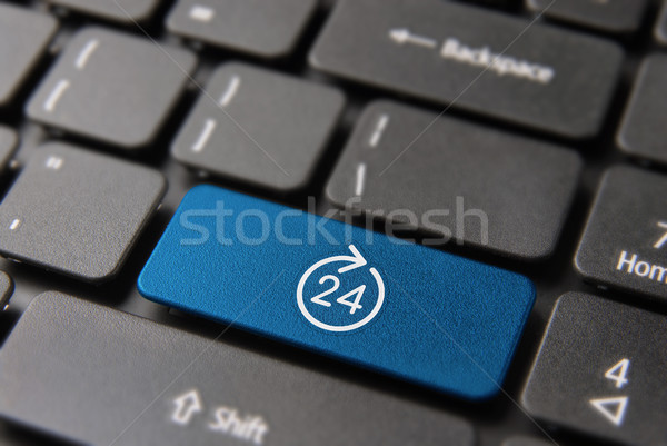 Internet business open 24 hours computer key  Stock photo © cienpies