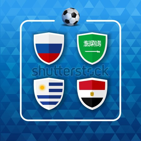 Soccer world game event 2018 Group A country team Stock photo © cienpies