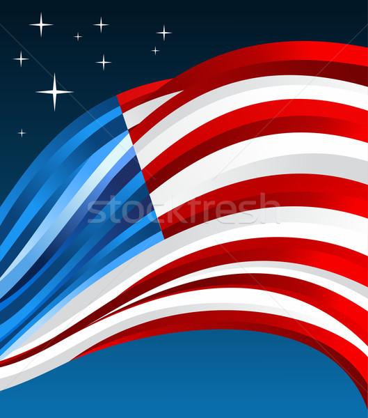 USA flag illustration background Stock photo © cienpies