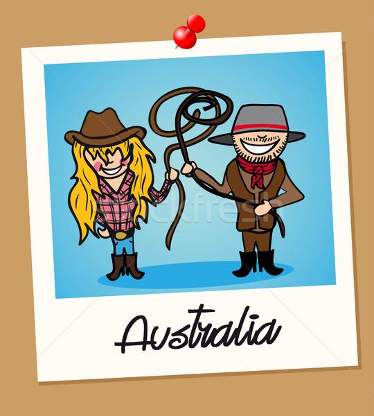 Australia viaje Polaroid personas australiano hombre Foto stock © cienpies