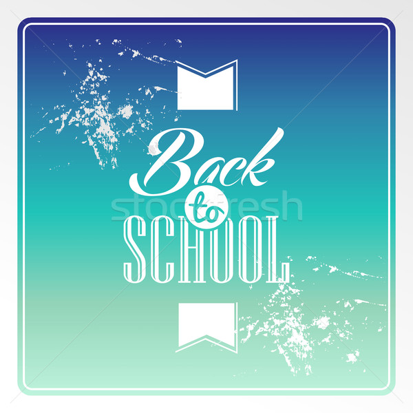 Retro back to school text colorful grunge background. Stock photo © cienpies