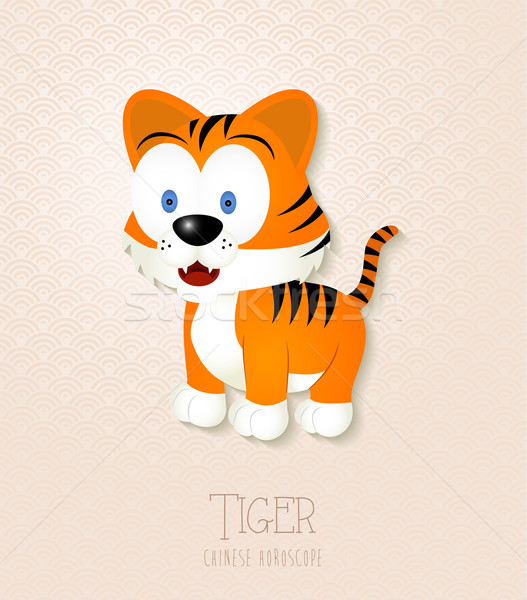 Chinese zodiac set Year of the Tiger Stock photo © cienpies