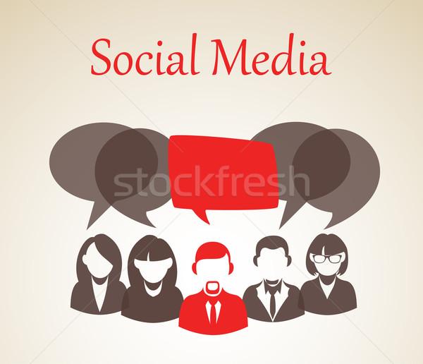 форуме иллюстрация люди группа чате Сток-фото © cienpies