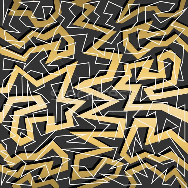 золото ретро Vintage 80-х годов геометрия Сток-фото © cienpies