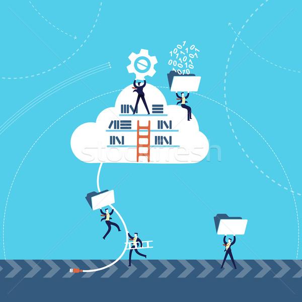 Negócio informação nuvem armazenamento de dados on-line tecnologia Foto stock © cienpies