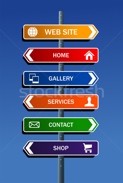 Photo stock: Internet · site · plan · structure · route · post
