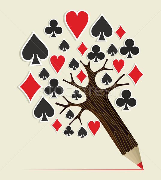Casino Poker concept tree Stock photo © cienpies