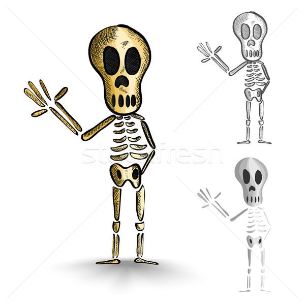 Halloween monstros isolado assustador conjunto Foto stock © cienpies