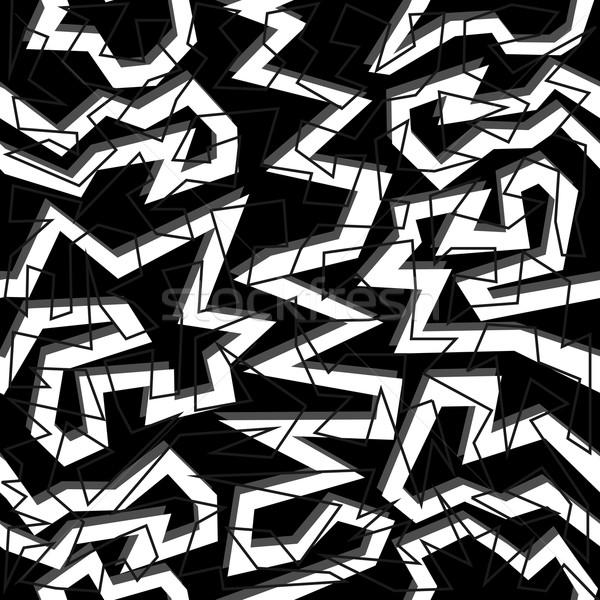 80 géométrie blanc noir mode Photo stock © cienpies