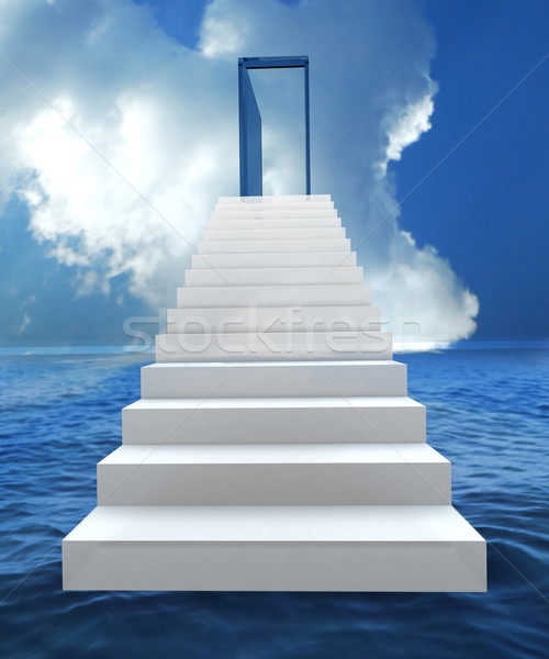 Risk and success business staircase Stock photo © cienpies