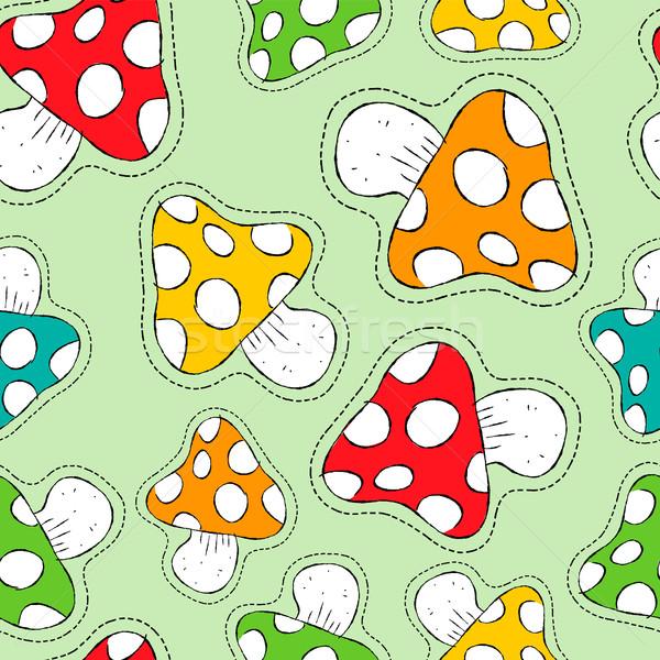 Kleurrijk champignon icon Stockfoto © cienpies