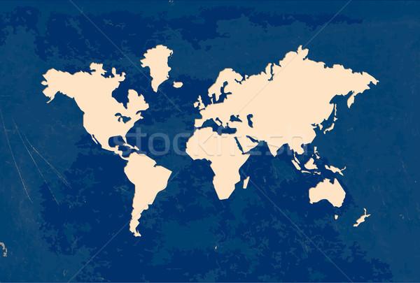 бумаги Cut Мир карта гранж текстур иллюстрация форма Сток-фото © cienpies