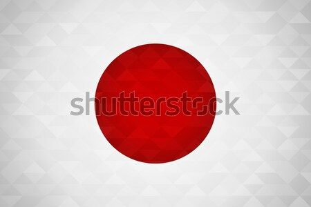 Japan country flag of japanese nation Stock photo © cienpies