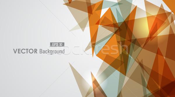 Warm meetkundig doorzichtigheid moderne oranje transparant Stockfoto © cienpies