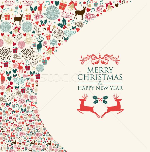 Foto stock: Alegre · natal · férias · colorido · elementos