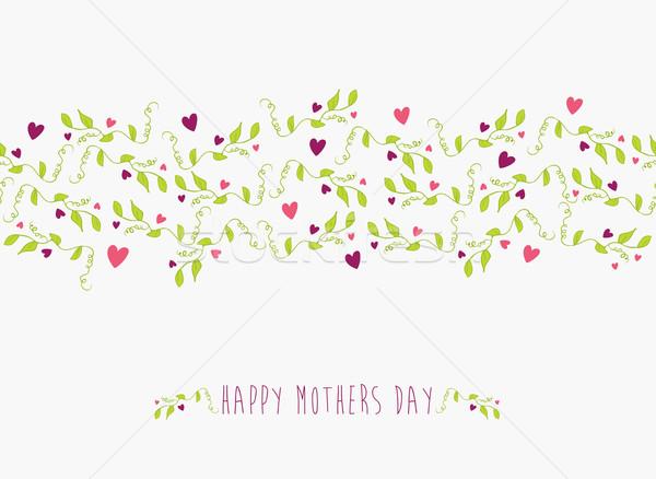 かわいい 幸せな母の日 レイヤード 簡単 操作 ストックフォト © cienpies