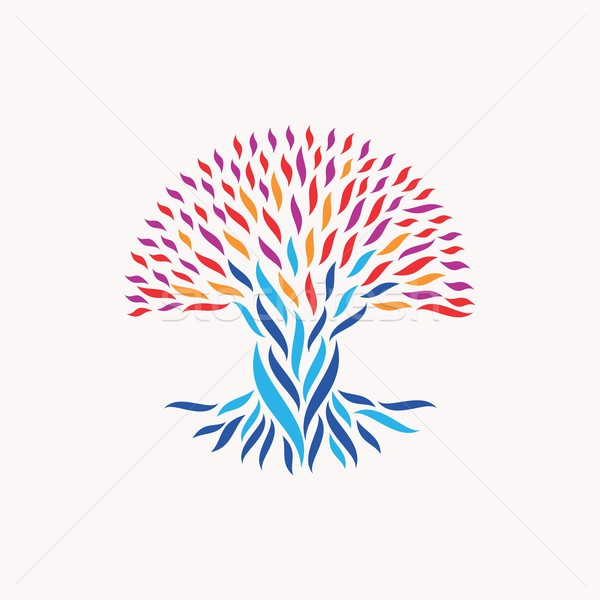 Unity abstract tree concept Stock photo © cienpies