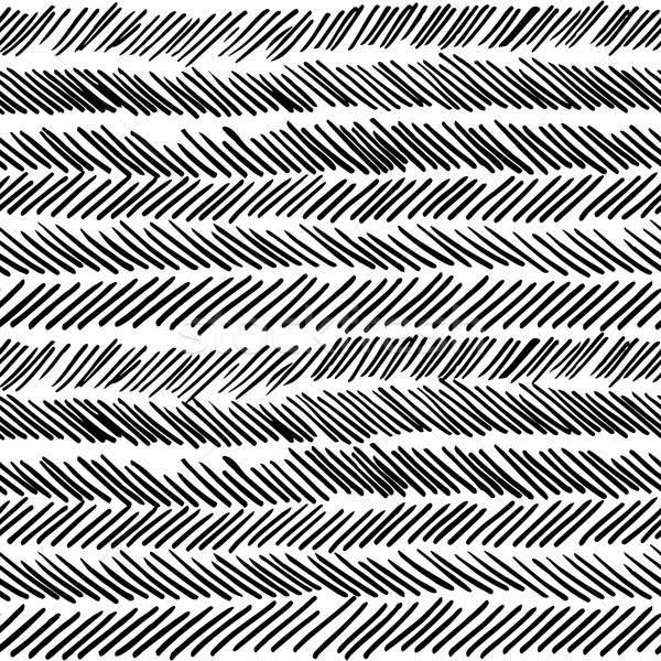 Stripe black and white boho retro seamless pattern Stock photo © cienpies