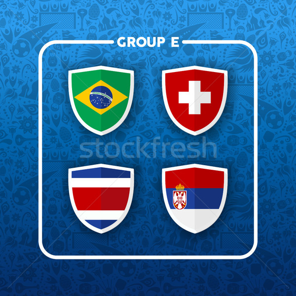 Group E soccer event country flag list Stock photo © cienpies