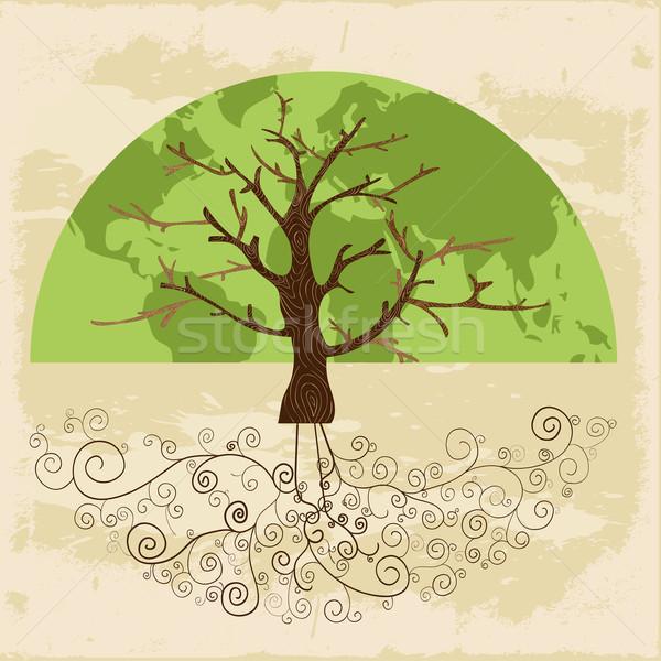 Tree world concept Stock photo © cienpies