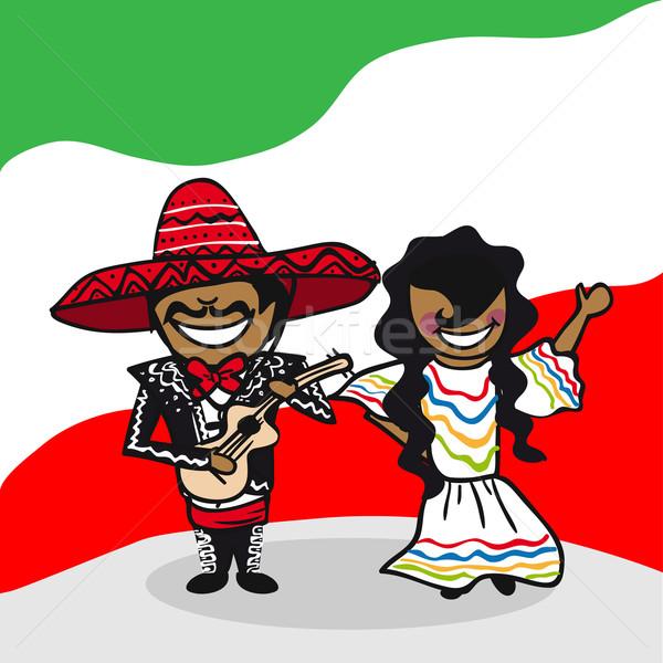 Stock fotó: üdvözlet · Mexikó · emberek · mexikói · férfi · nő
