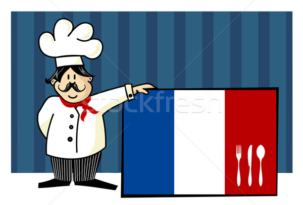 Chef of french cuisine Stock photo © cienpies