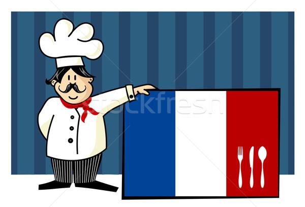 Photo stock: Chef · cuisine · française · alimentaire · restaurant · menu · design