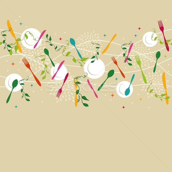 Argenterie modèle illustration coloré Photo stock © cienpies
