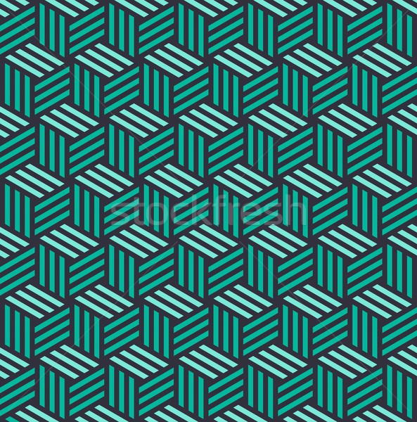 Isometric 3d cube seamless pattern background Stock photo © cienpies