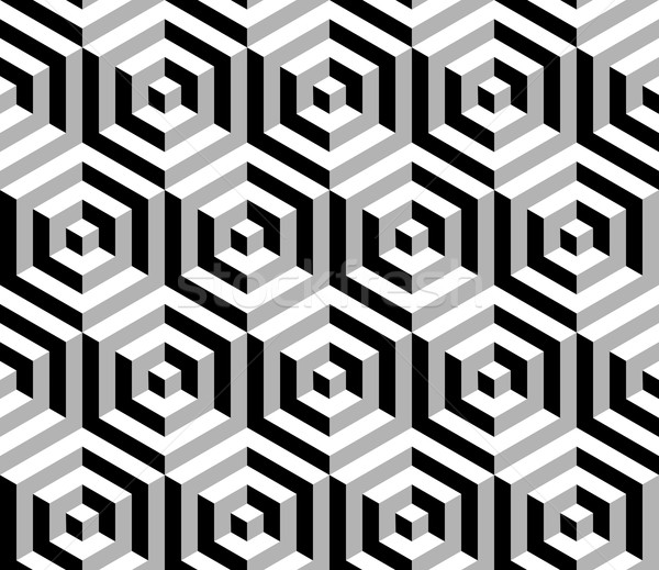 Isometric 3d hexagon seamless pattern background Stock photo © cienpies
