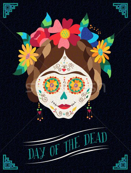 Nap halott boldog illusztráció terv Mexikó Stock fotó © cienpies