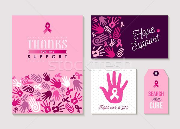 Rosa cáncer de mama diseno establecer conciencia disposición Foto stock © cienpies