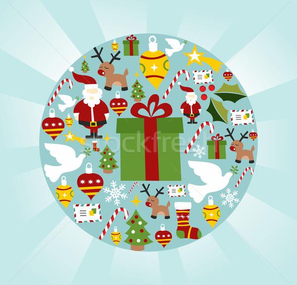 Foto d'archivio: Natale · cerchio · vettore · file