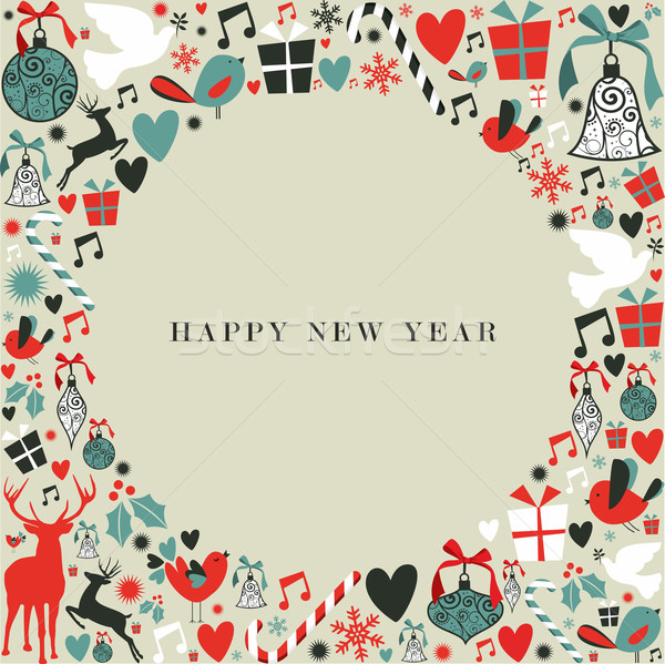Christmas icons 2013 happy new year Stock photo © cienpies