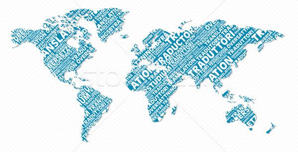 Multilingual translation world map concept Stock photo © cienpies
