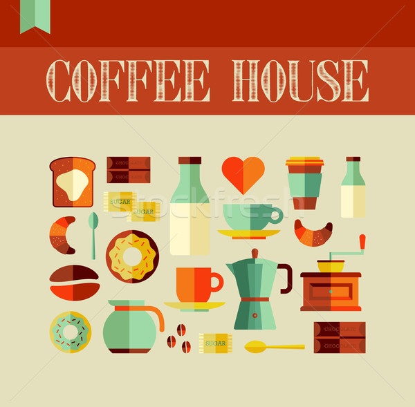 Coffee House concept Stock photo © cienpies