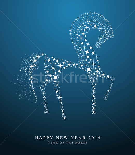 2014 chinese New Year of the horse  Stock photo © cienpies