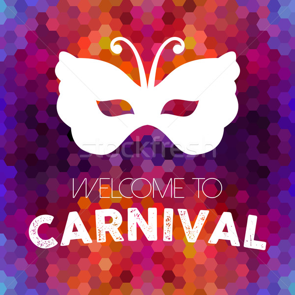 Carnival vintage mask on colorful background Stock photo © cienpies