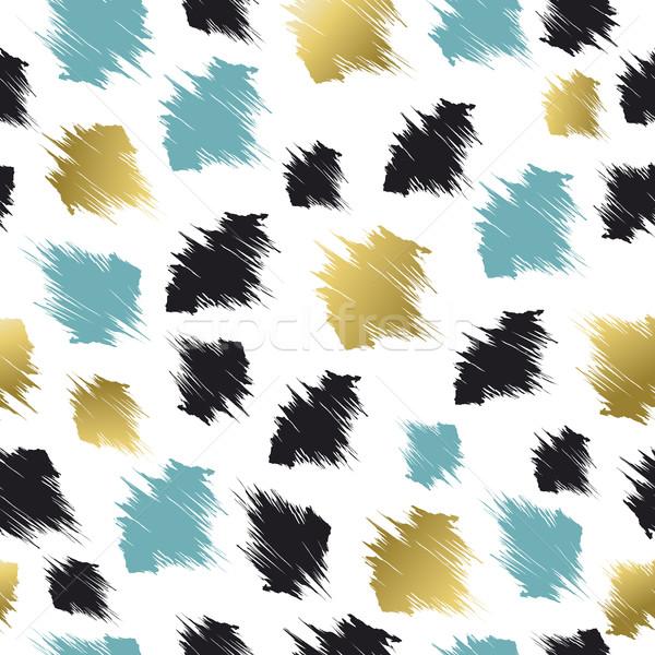 Minta absztrakt formák arany kék végtelen minta Stock fotó © cienpies