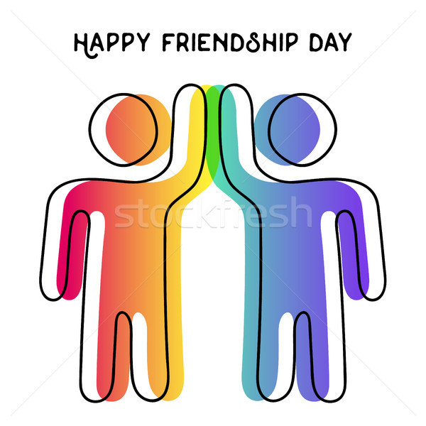 Feliz amistad día tarjeta amigo máximo de cinco Foto stock © cienpies